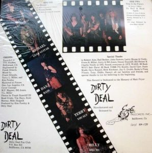 Dirty Deal LP - Back